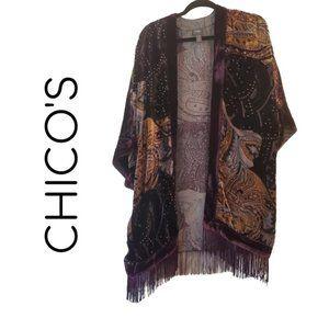 Velvet Deco chico's travelers kimono shall L/XL